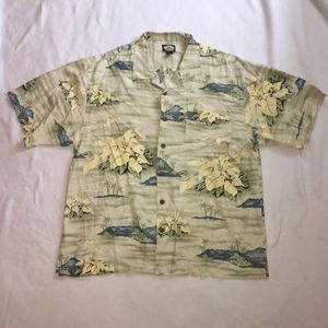 Tommy Bahama XL Button Down Shirt Tropical Beach